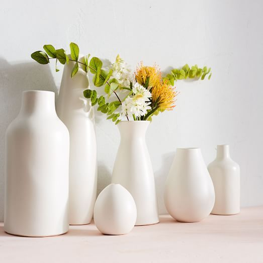 Beautiful Pure White Ceramic Vases Home Decor Fixer Upper