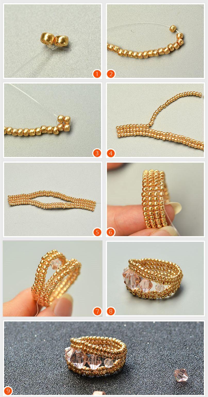Learn How To Make Ring Form Beebeecraft Boncuklu Yuzukler