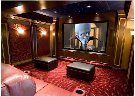 interior Home theater Pinterest Interiors, Cinema room and Room
