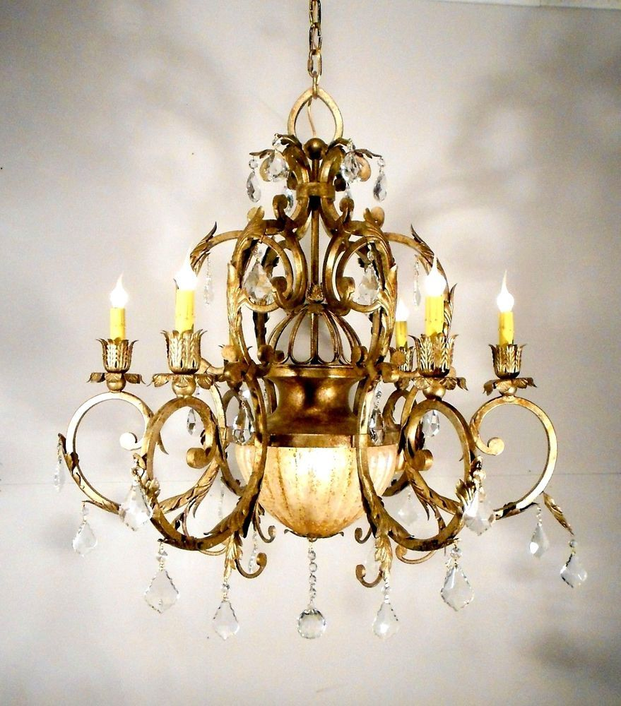 Antique style huge chandelier ceiling light fixture lamp with antique style huge chandelier ceiling light fixture lamp with crystals unknown lamp doctor 1200 ebay mozeypictures Image collections