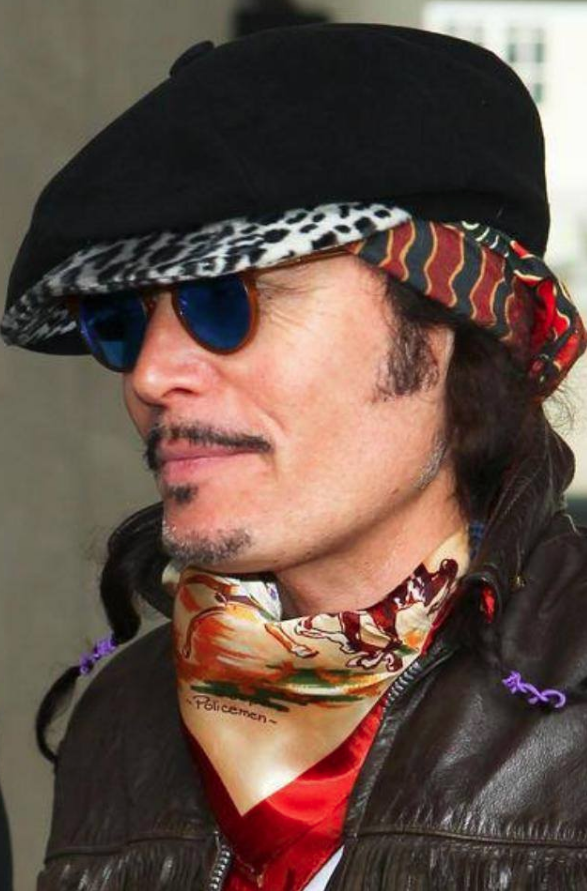 A Child of the Jago customer Adam Ant wearing out Baker Boy hat in