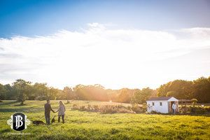 Wagon Hill Farm Sunset Engagement Session