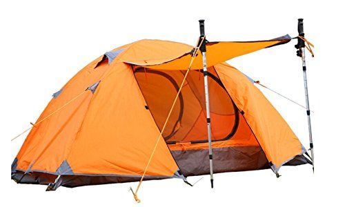 Elstey 2 Persons Double Layer Waterproof Outdoor Camping Tent Ultralight Aluminum RodSun Shelter UPF 50 Protection with Carry Bag -- Check out the image by visiting the link.