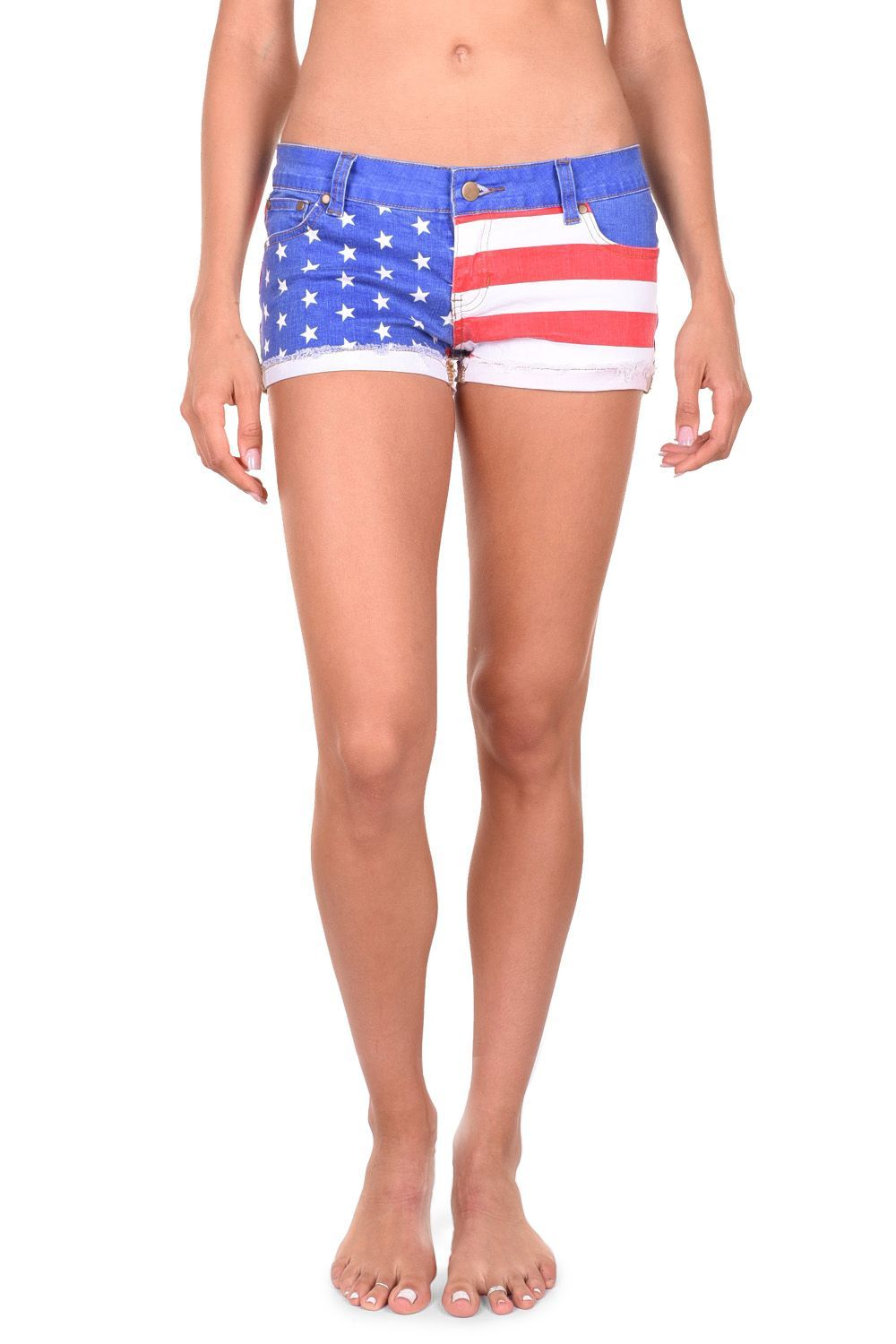 f9756aeaf0a Make sure you show your patriotism at all of your summer BBQ events and  check out these American Flag jean shorts.