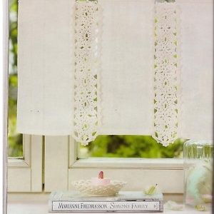 Aplicaciones a ganchillo para cortinas y manteles libros - Apliques para cortinas ...