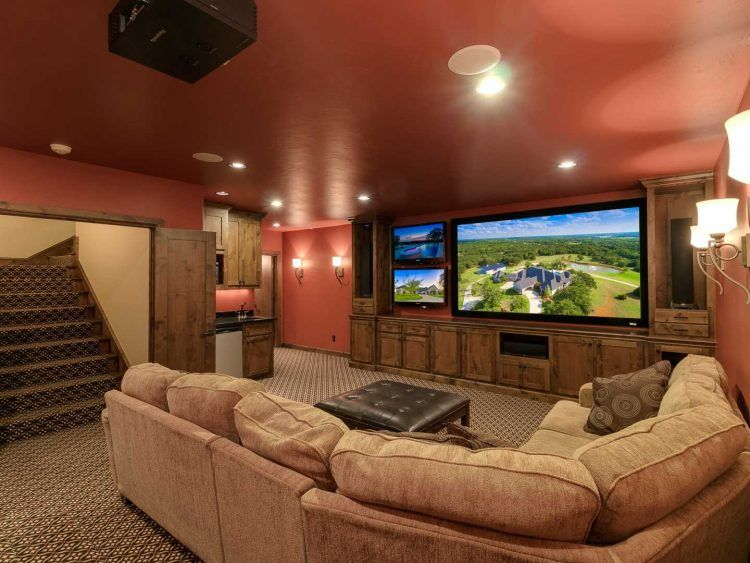Mansion interior living room with tv  Luxury Listing Of The Day: Beautiful $2.3M Midwestern Mansion ...