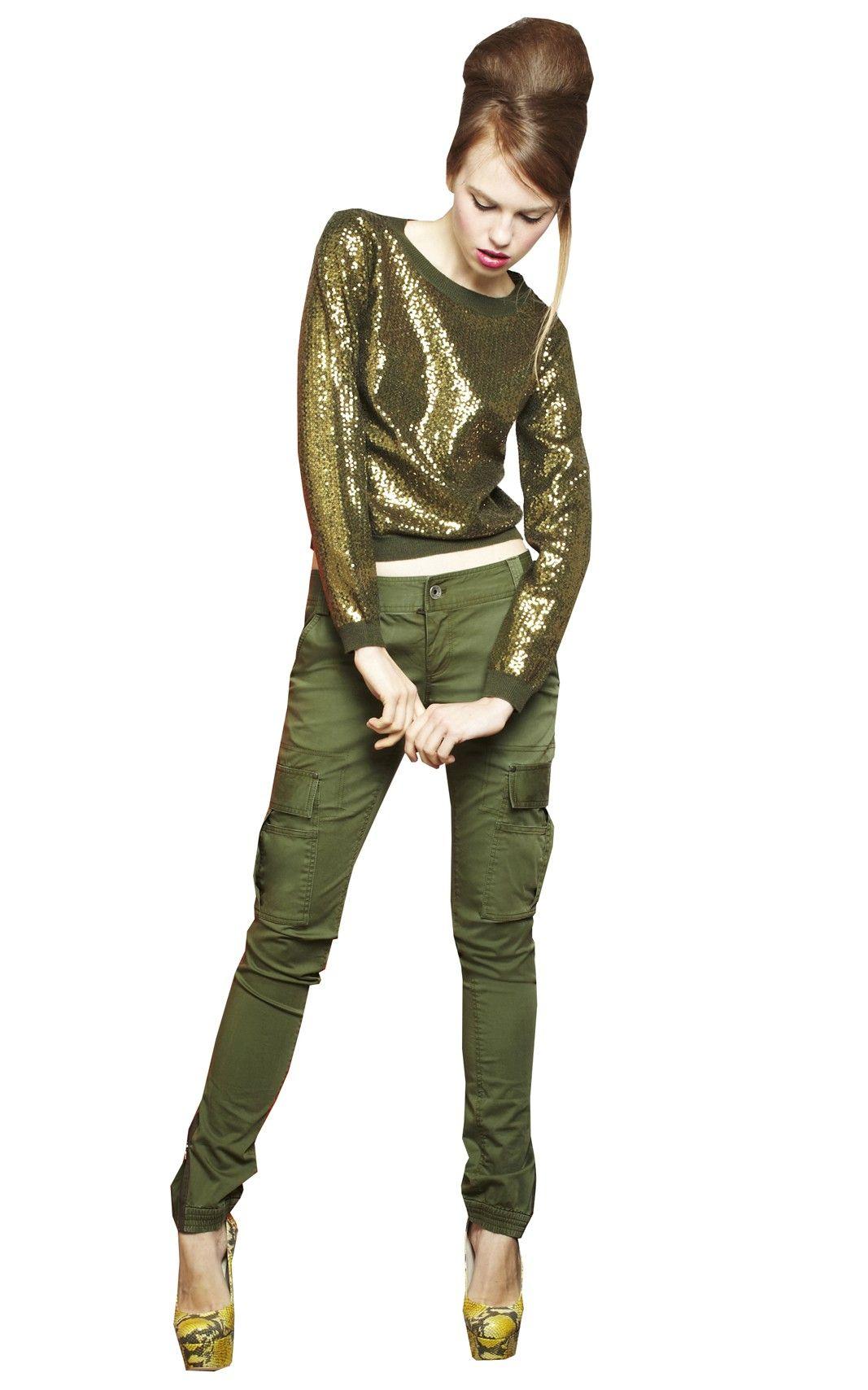 Alice + Olivia WASHED CARGO PANT Fashion, Green fashion