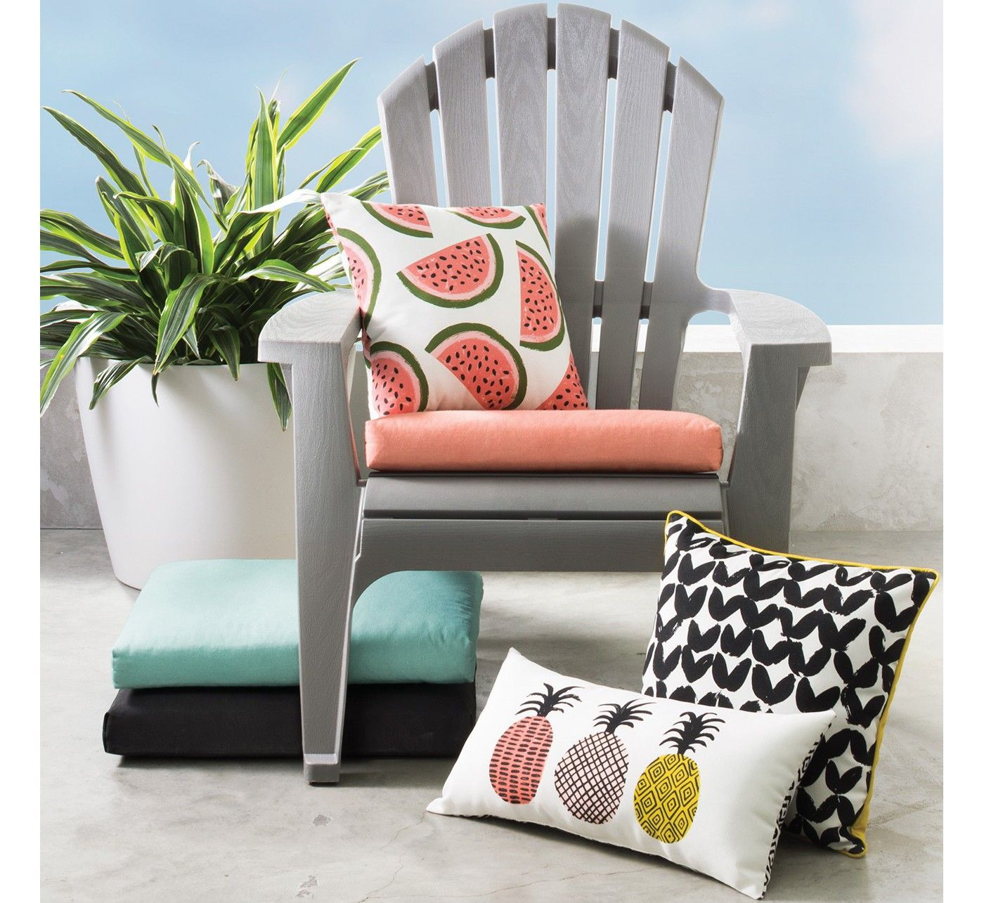 Outdoor Seat Cushion Turquoise Room Essentials