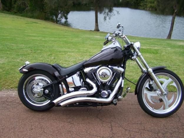 bobber custom of harley davidson fxstc softail motorcycle | my