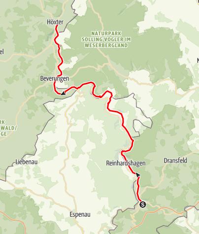 Weser Radweg Karte.Karte Weser Radweg 1 Etappe Von Hann Münden Bis Höxter Gerd