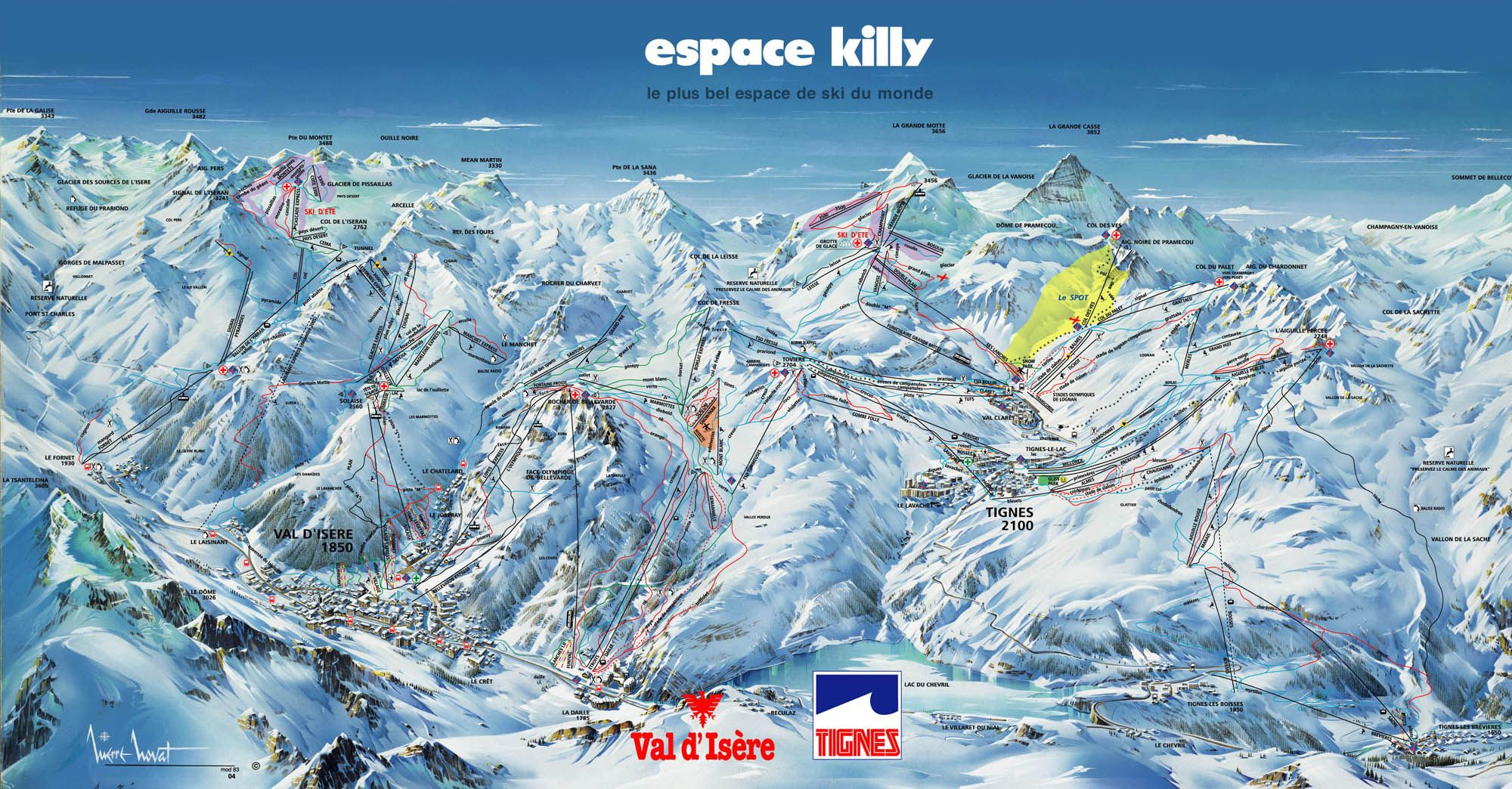 Ski Dimension Serfaus Fiss Ladis Piste Map This and That