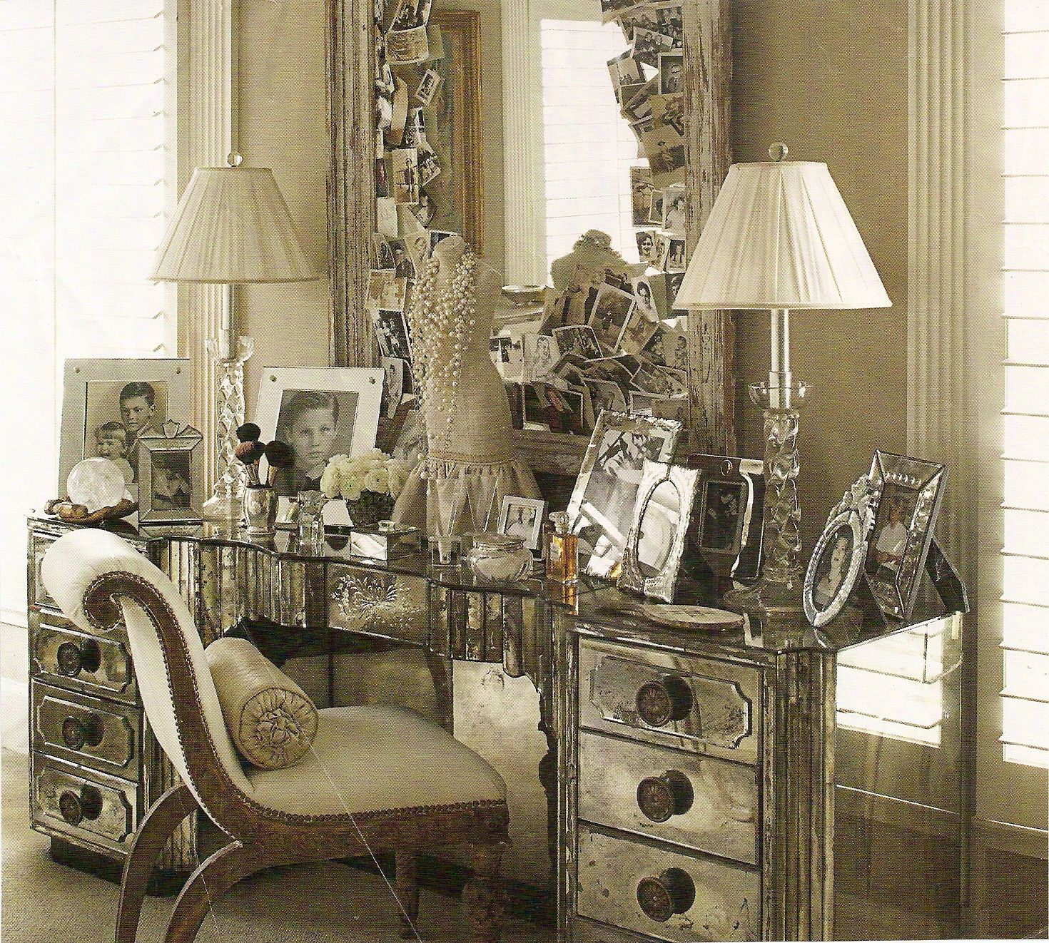 Superieur Old Hollywood Glamour Furniture | Personal Dressing Area Designed By Mimi  Williams.