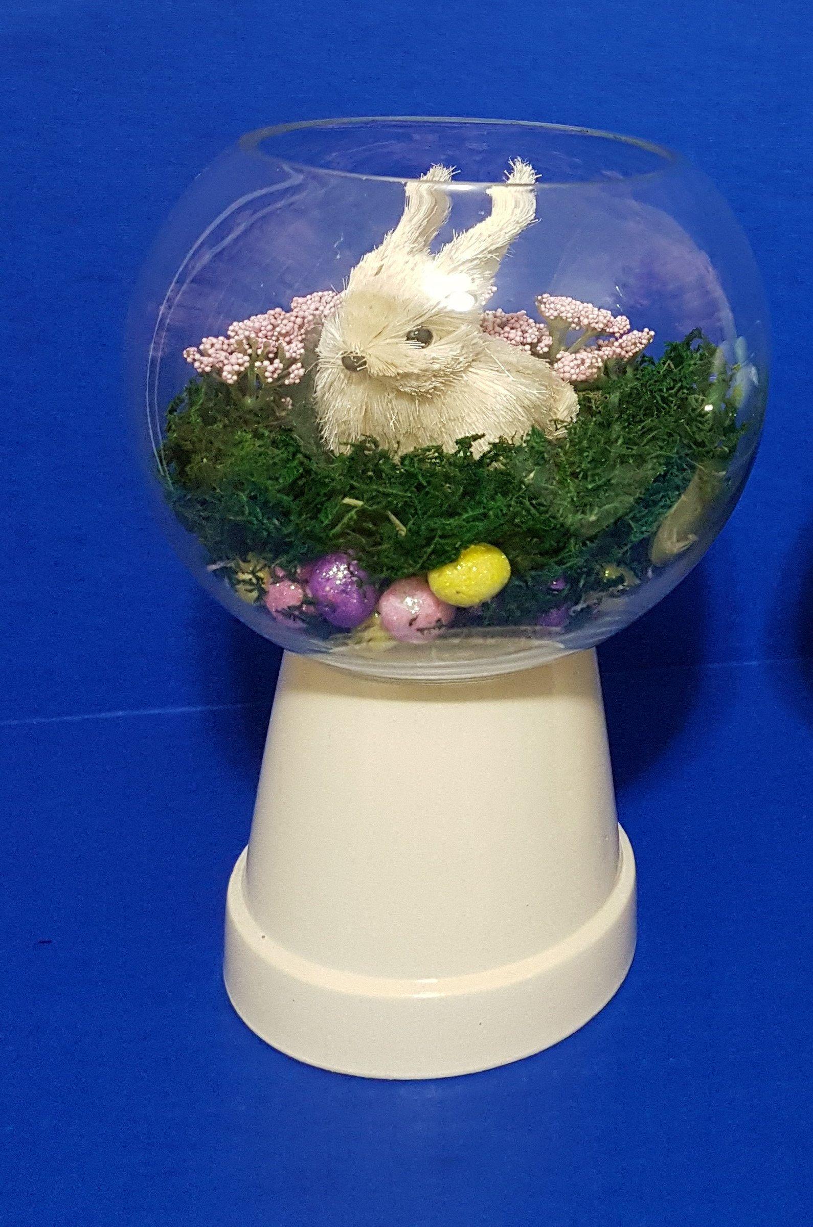 Elegant Hand Crafted Easter Decor, Easter Dinner Centerpiece, Easter Terrarium,