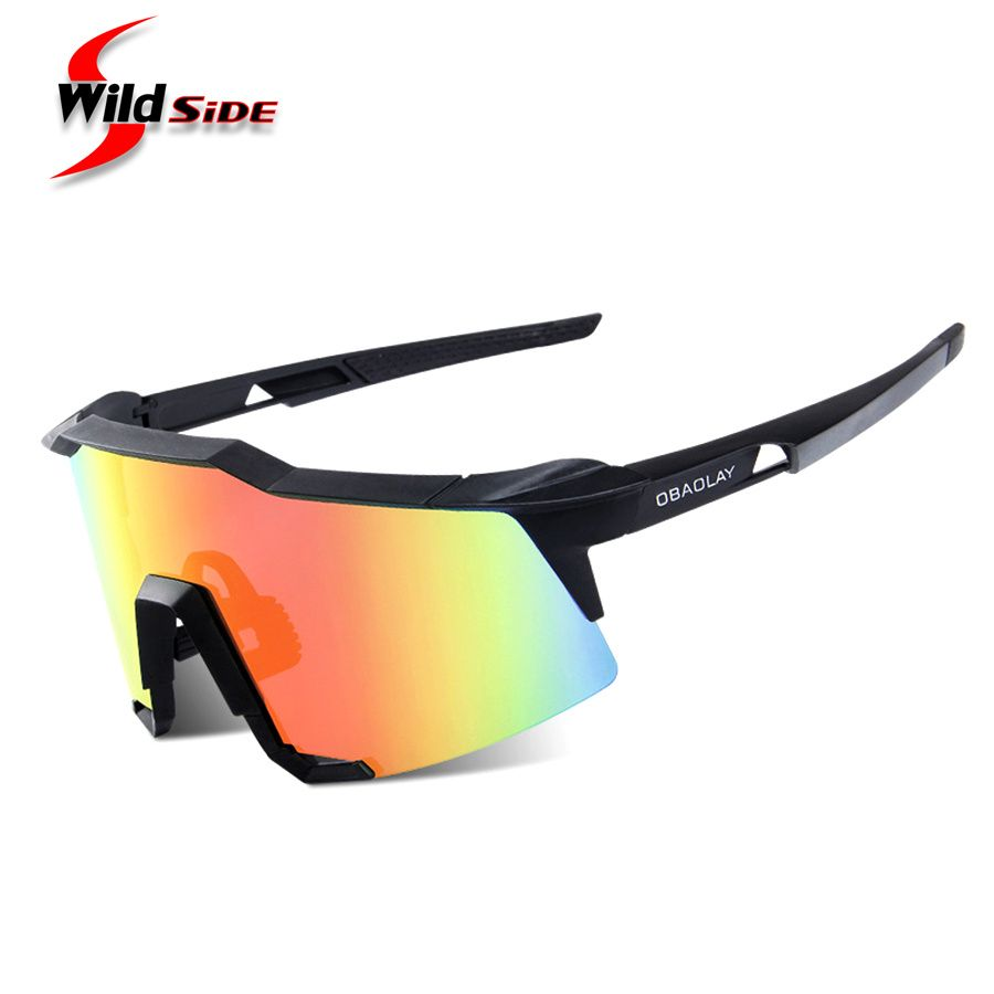 4439640d27 Aliexpress.com   Buy OBAOLAY Cycling Sport Sunglasses Anti fog Black Biking  Glasses Fishing Bike Goggles Bicycle Eyewear TR90 Gafas Ciclismo 2 Lens  from ...