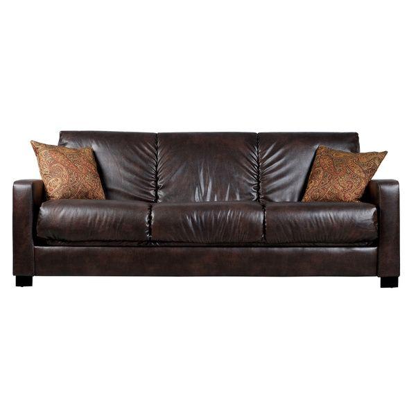 Portfolio Trace Convert A Couch Brown Renu Leather Futon Sofa