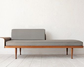 Daybed skandinavisch  Mid Century Sofa Day Bed Wood Frame | Furniture | Pinterest | Mid ...