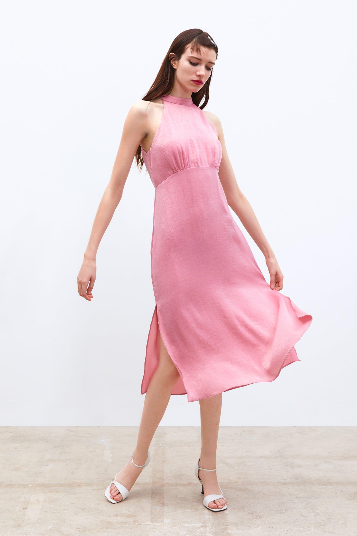 16a73c8a Image 1 of SATIN MIDI DRESS from Zara Satin Midi Dress, Zara United Kingdom