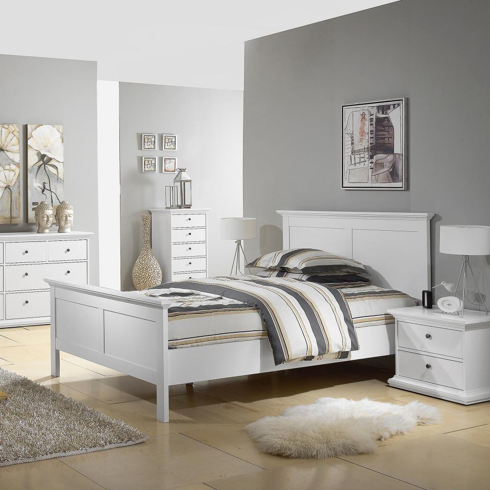Bett Pariso (180x200, weiß) Panel bett, Bett ideen und