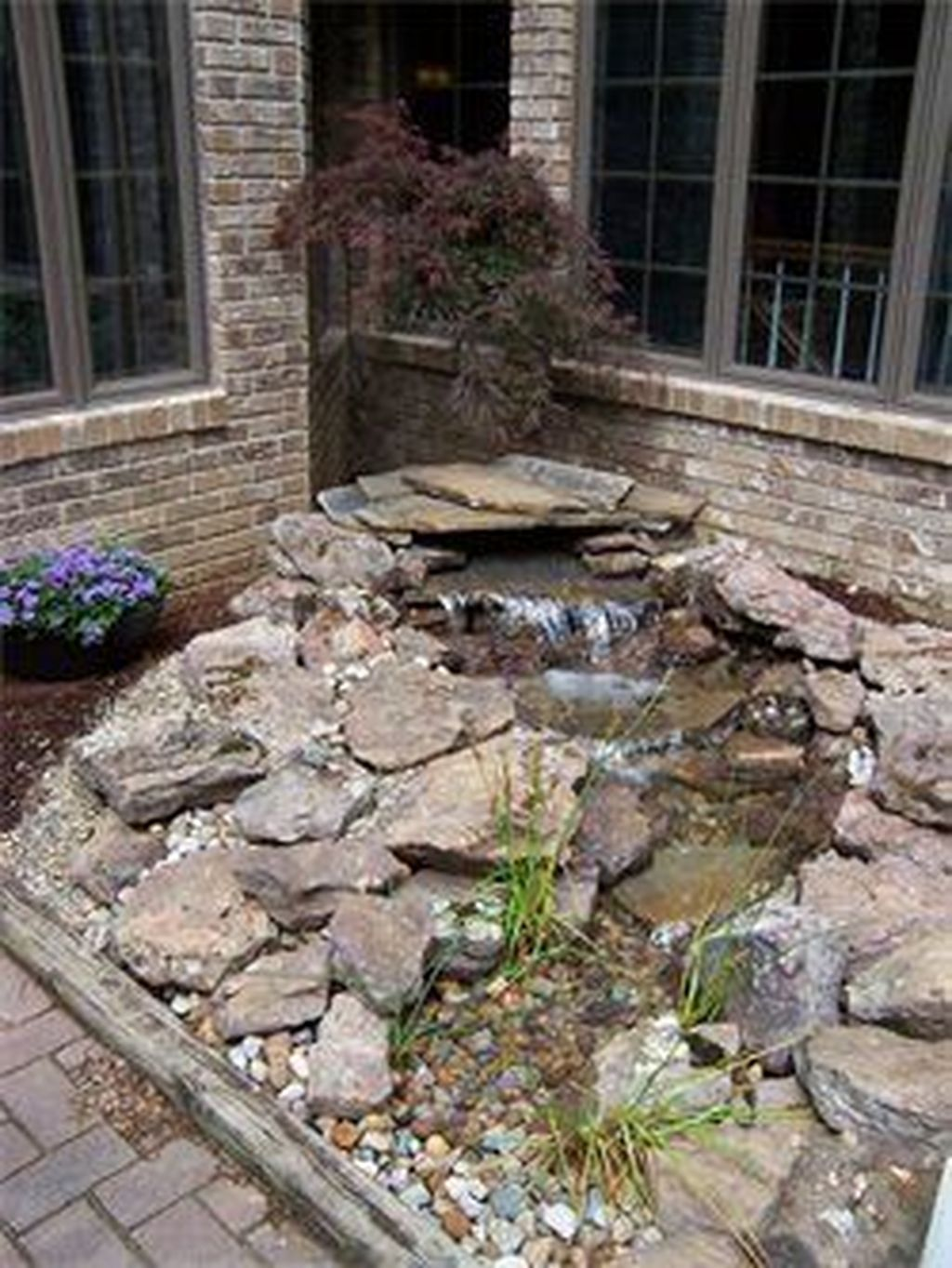 41 Awesome Small Waterfall Pond Landscaping Ideas Backyard #waterfeatures