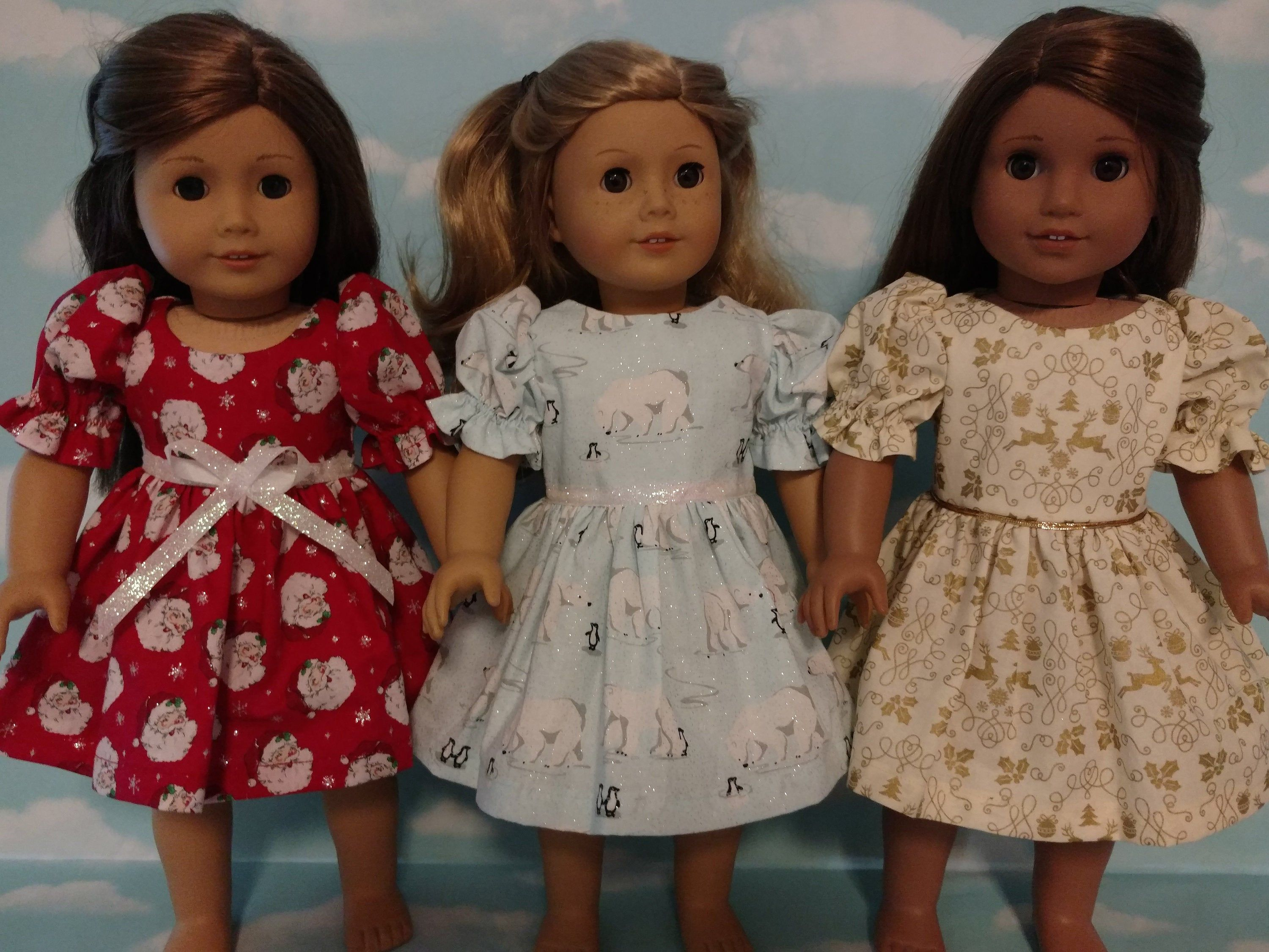 18 inch doll clothes, Christmas dress fits 18 American Girl Dolls c57abc #18inchdollsandclothes