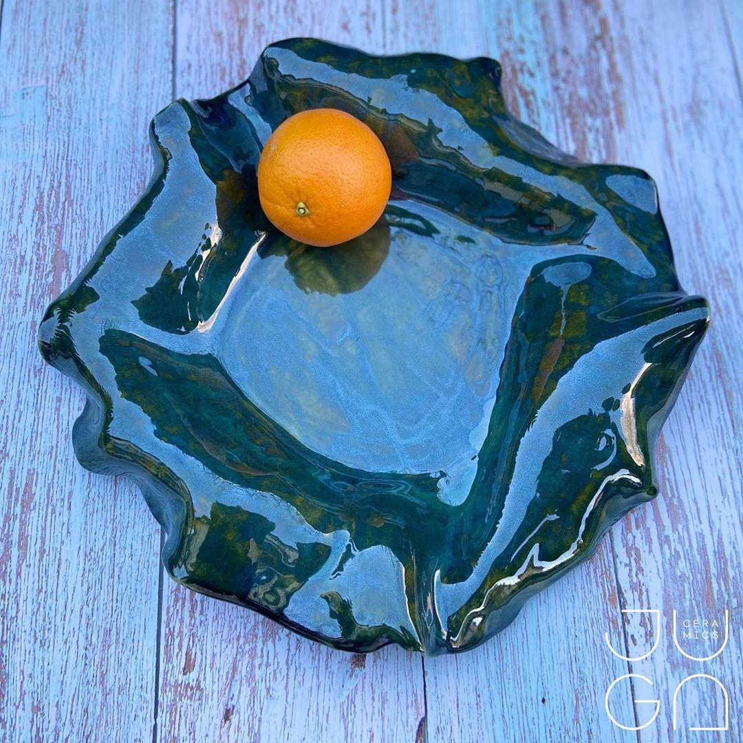 """Juga Ceramics on Instagram: """"Patera WAVE 🌊🏝🐬 #ceramikapolska #ceramikaartystyczna #ceramics #ceramika #uniqueceramics #handmadeceramics #handmade #instaceramics…"""""""