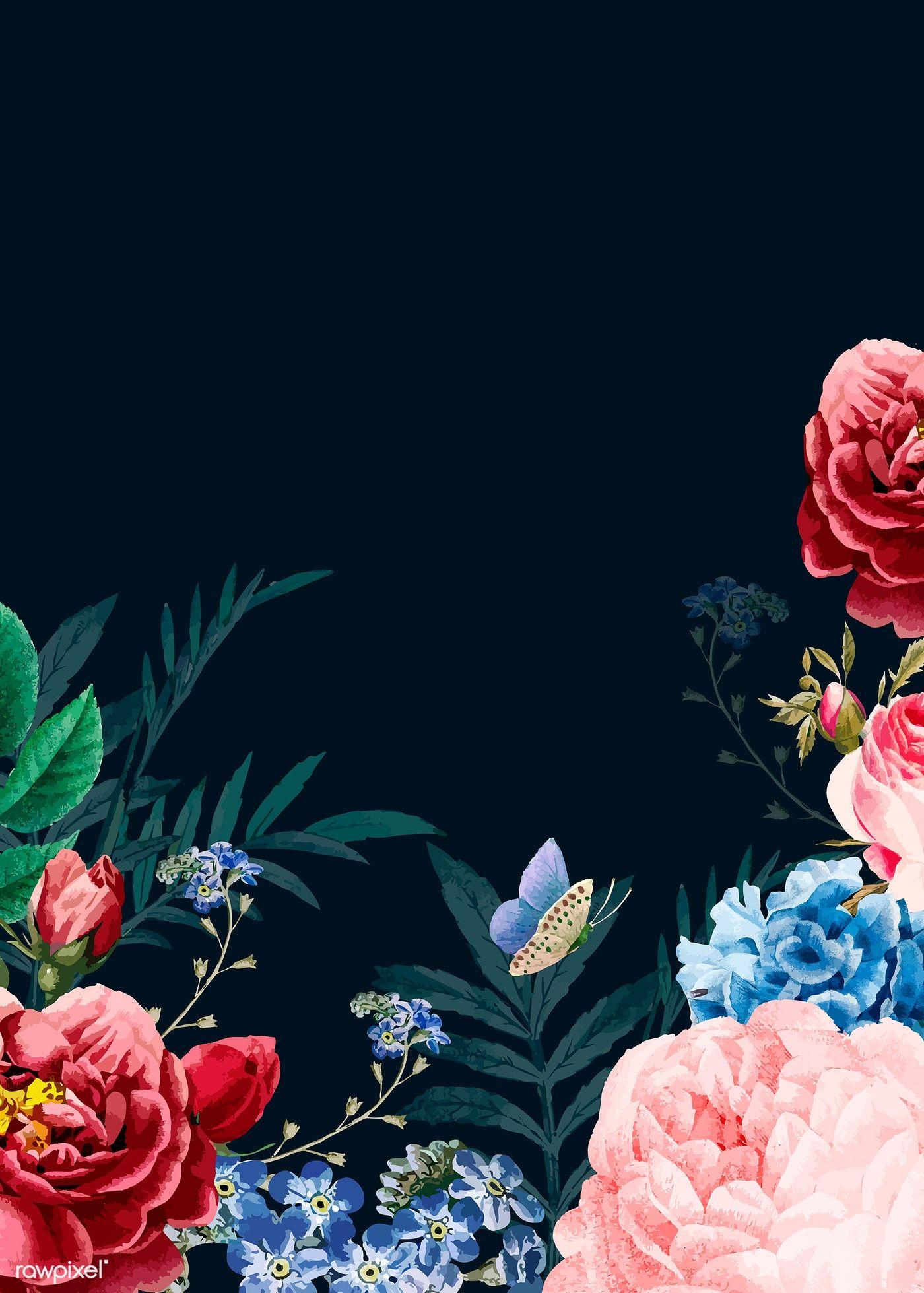 Download Premium Vector Of Blooming Elegant Floral Background Vector 681568 Floral Background Apple Watch Wallpaper Floral Poster Flower wallpapers full hd fantasy