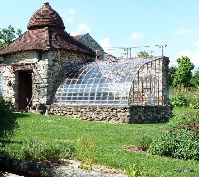 une serre r alis e l 39 ancienne par christian travailleur infatigable jardin garden. Black Bedroom Furniture Sets. Home Design Ideas