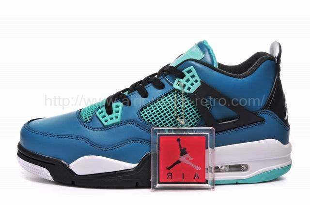 Authentic Cheap Air Jordan 4 Authentic Online For Sale Authentic Cheap Air  Jordan 4 Teaser Teal Black-White 2015