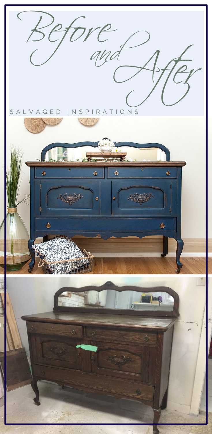 Blue Buffet Dixie Belle Paint Giveaway Recycled Furniture