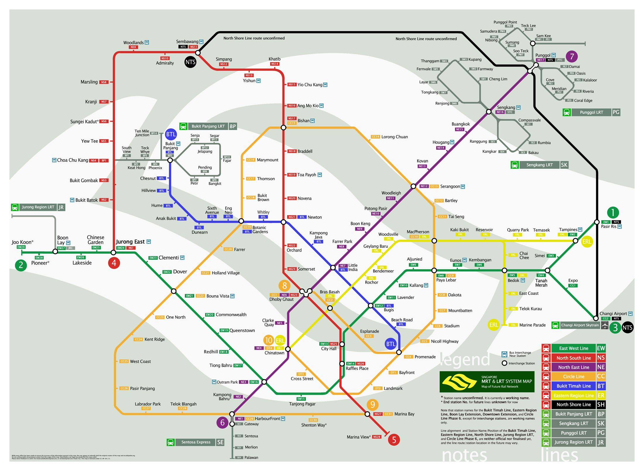Click To See Future Mrt System Map To Be Confirmed Singapore