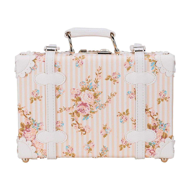 Decorative Luggage Box Coz 12' Waterproof Pu Leather Vintage Luggage Small Suitcase
