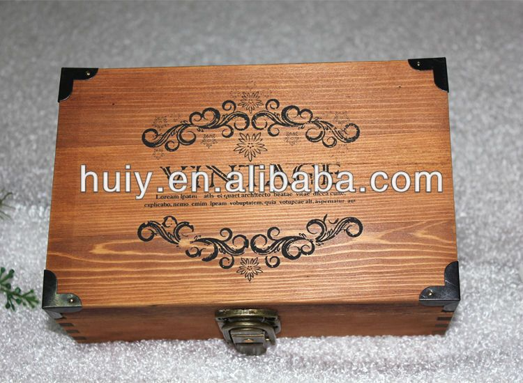 wholesale antique vintage decorative wooden letter box antique small wooden box wood letter box