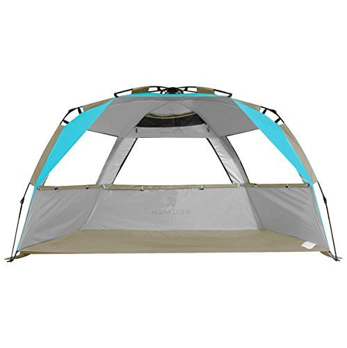 G4free Easy Set Up Beach Tent Pop Sun Shelter Large Family Shade Uv Protection For Baby Kids 4 Person Portable Camping Beachshade