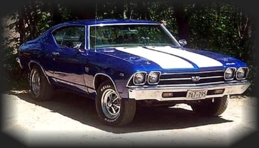 1969 Chevy Chevelle SS much like my Big Brothers car o9nly ...