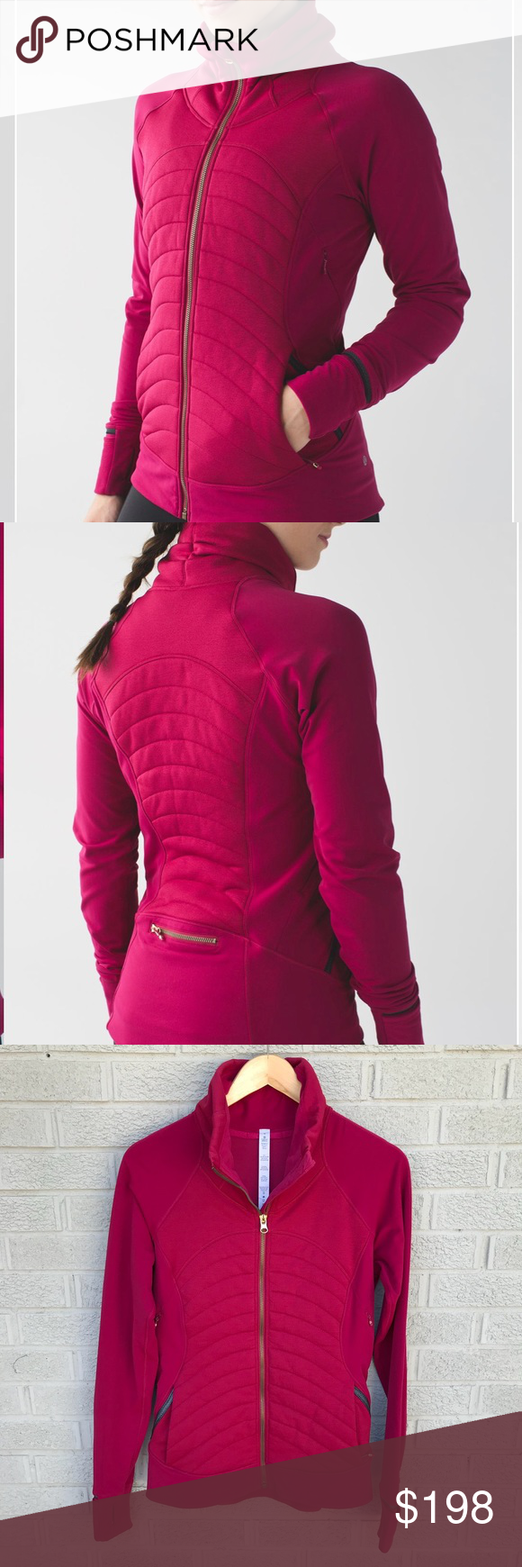Lululemon fleece out jacket in berry rumble lululemon berry and