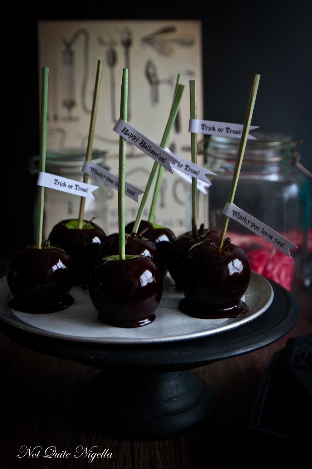 Snow White's Poisoned Candy Apples Recipe Black candy