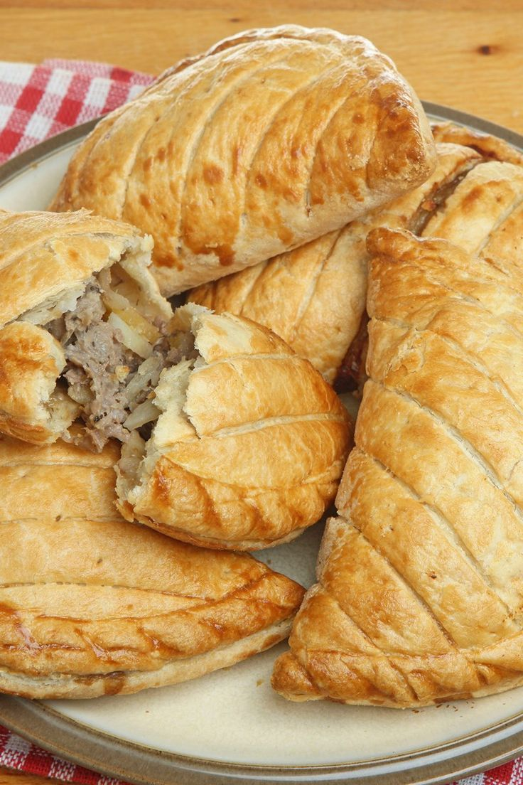 Cornish Pasties Piled On A Plate Pasties Recipes Food Recipes