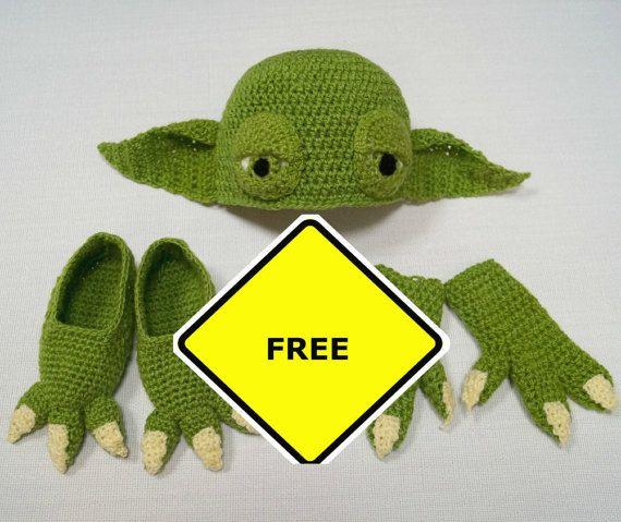Yoda Infant Baby Crochet Pattern PDF, Yoda Gloves, Baby Booties ...