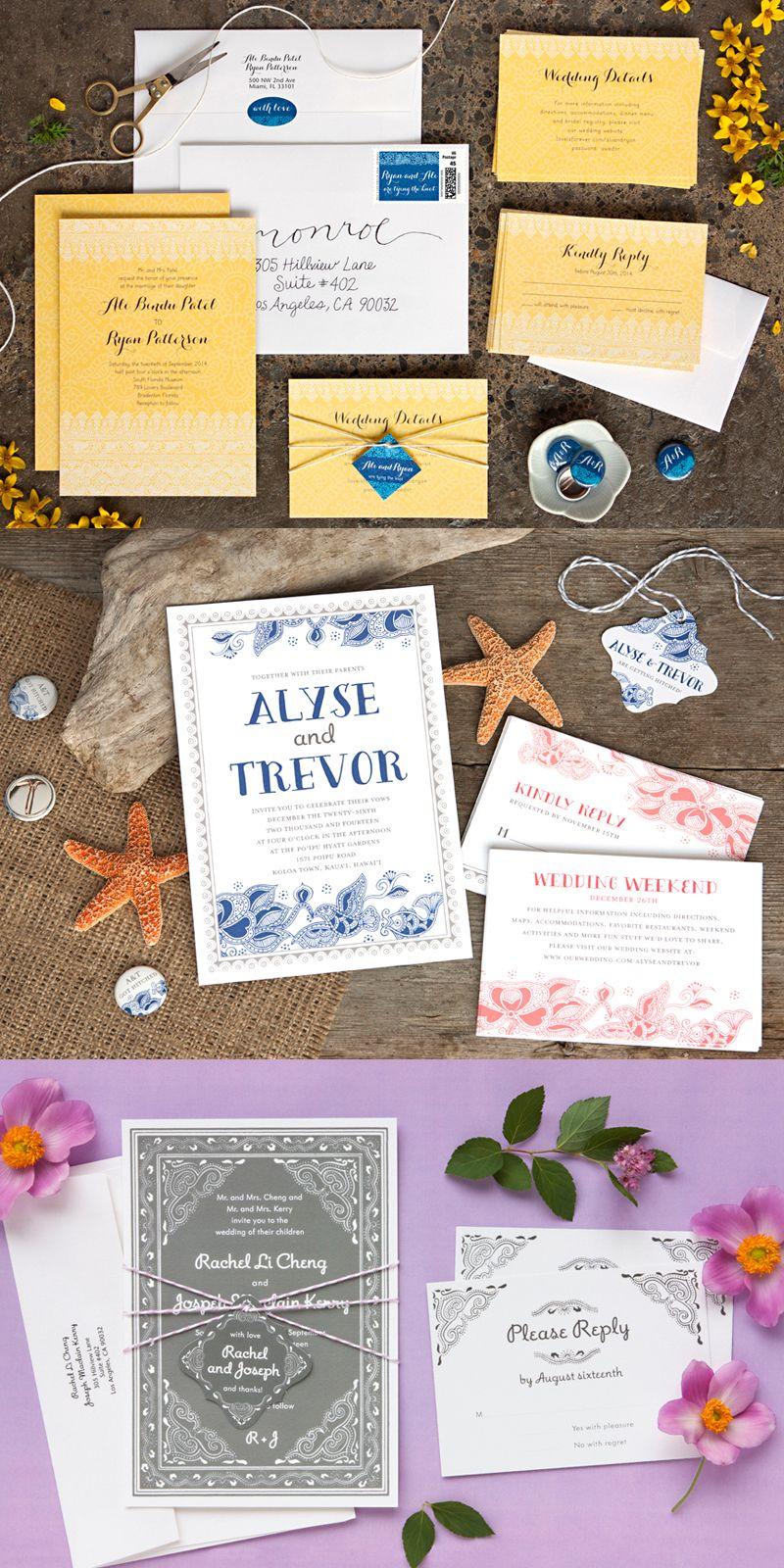 40+ Beautiful Wedding Invitations Cards & Kit Ideas | Pinterest ...