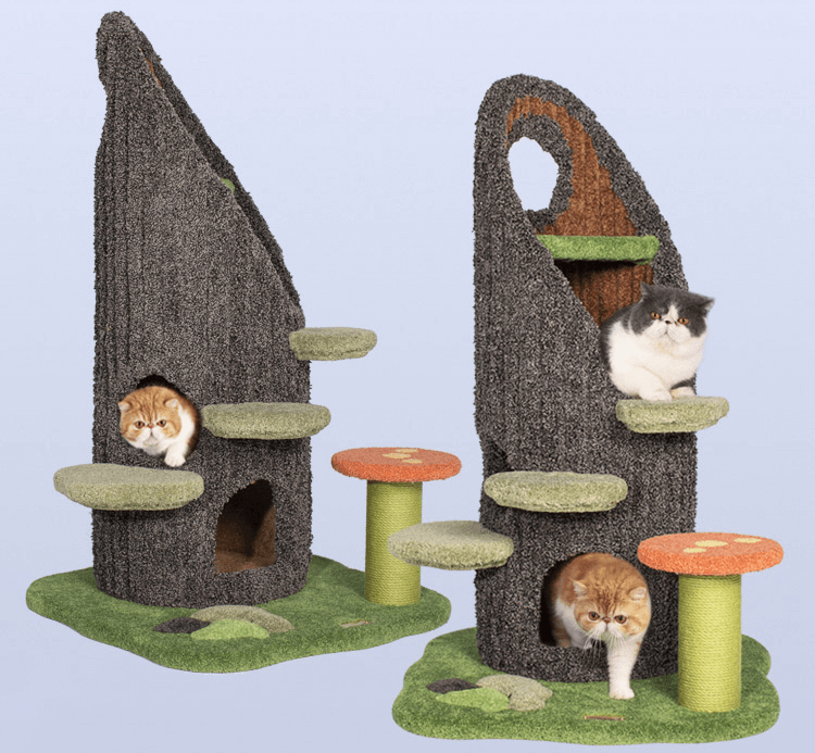 Unique Trunk And Grass Style Cat Tree In 2021 Cat Climbing Frame Cat Tree Cat Climbing
