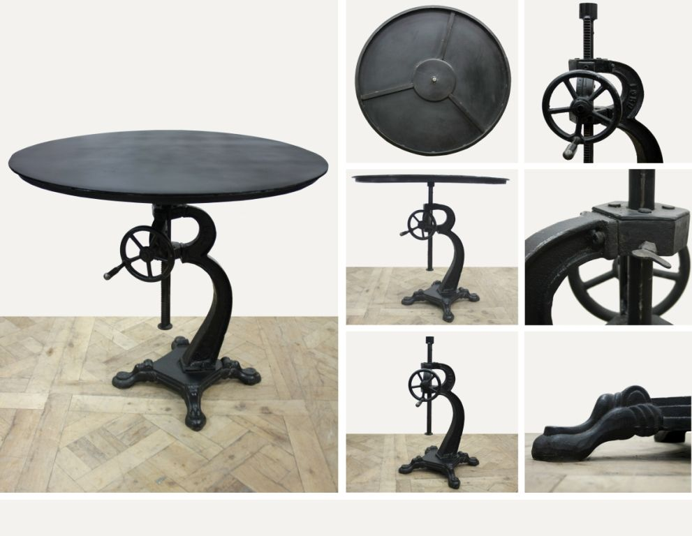 This #industrial table is brand new to us and it's getting a lot of attention! Find them online! www.antiquesdirect.ca #Vancouver
