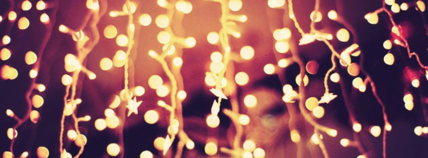 Christmas Lights At Night Facebook Cover Photo Justbestcovers
