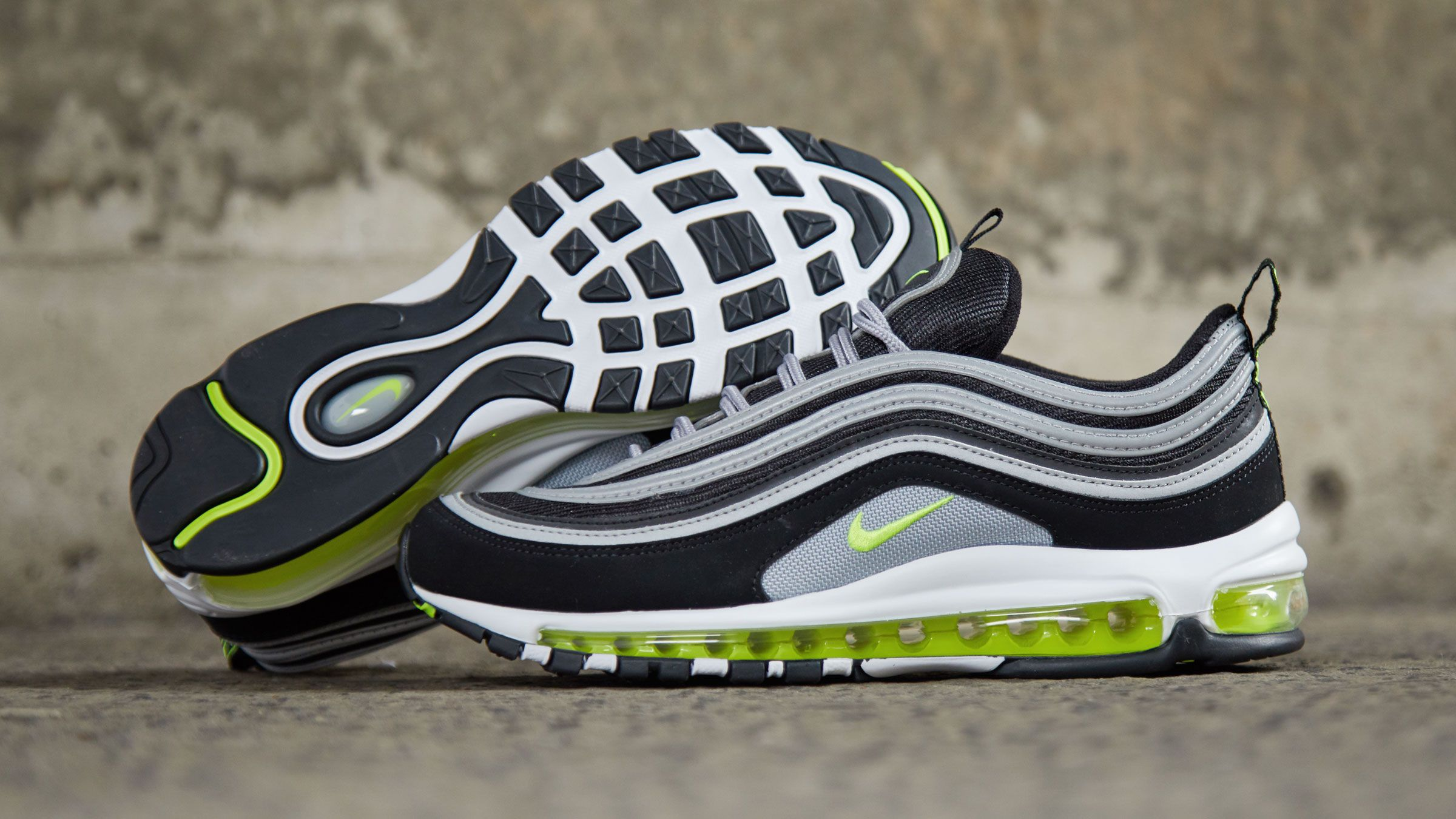 save off 30a2e 09d47 Nike Air Max 97 Japan OG (Black, Volt & Metallic Silver ...