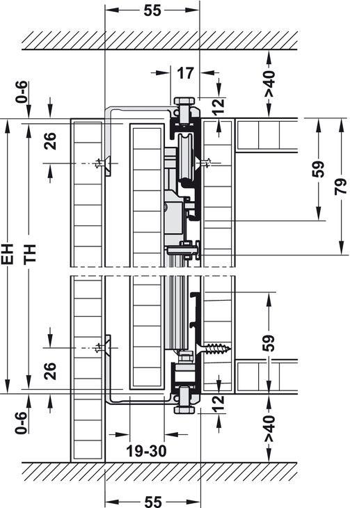 Pivot Sliding Door System For Cabinet Doors Fittings And Runners Hawa Concepta Hafele U K Shop Portas