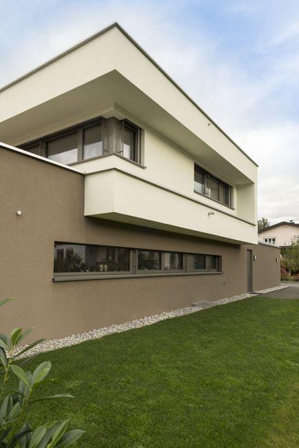 Einfamilienhaus Flachdach Überdachte Terrasse