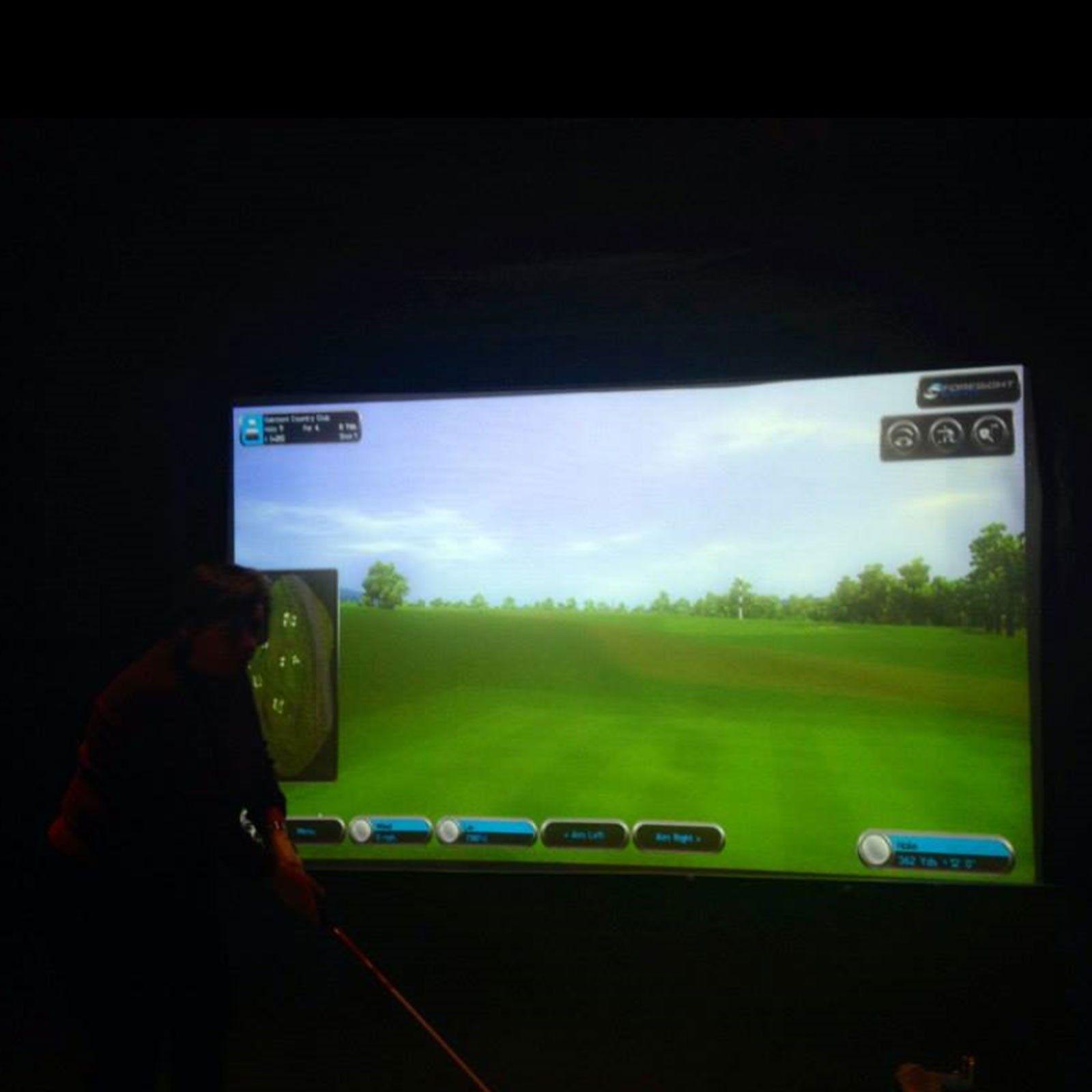 carl u0027s golf simulator impact screen demonstration build a diy
