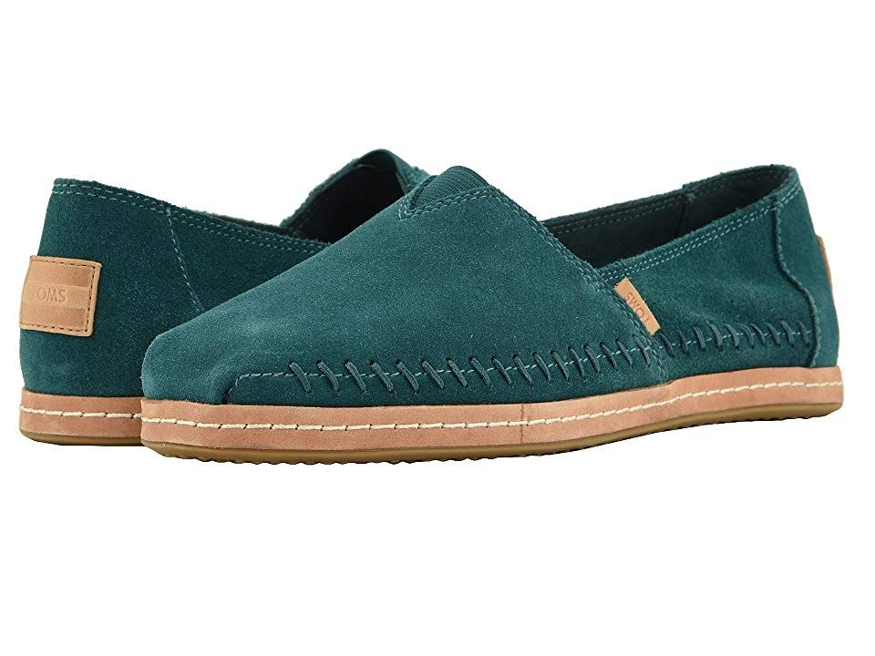 TOMS Alpargata Atlantic Suede Womens Shoes With every pair of shoes you purchase TOMS will give a new pair of shoes to a child in need One for One The TOMS Alpargata slip...