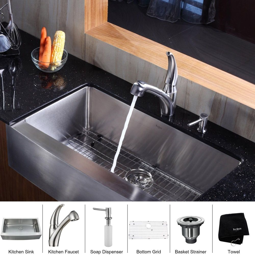 This Kraus Farmhouse Sink Is Sleek Stylish Super Durable And