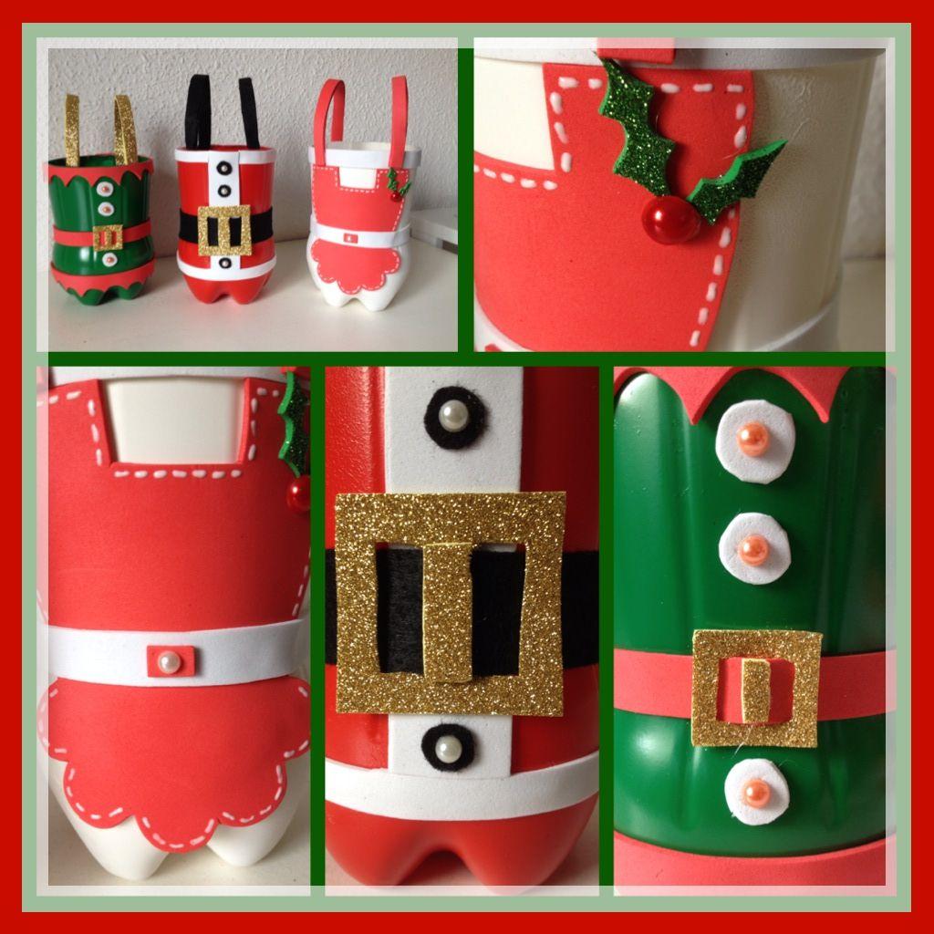 Dulceros lindos con dise os navide os de papa noel mama for Disenos navidenos para decorar puertas