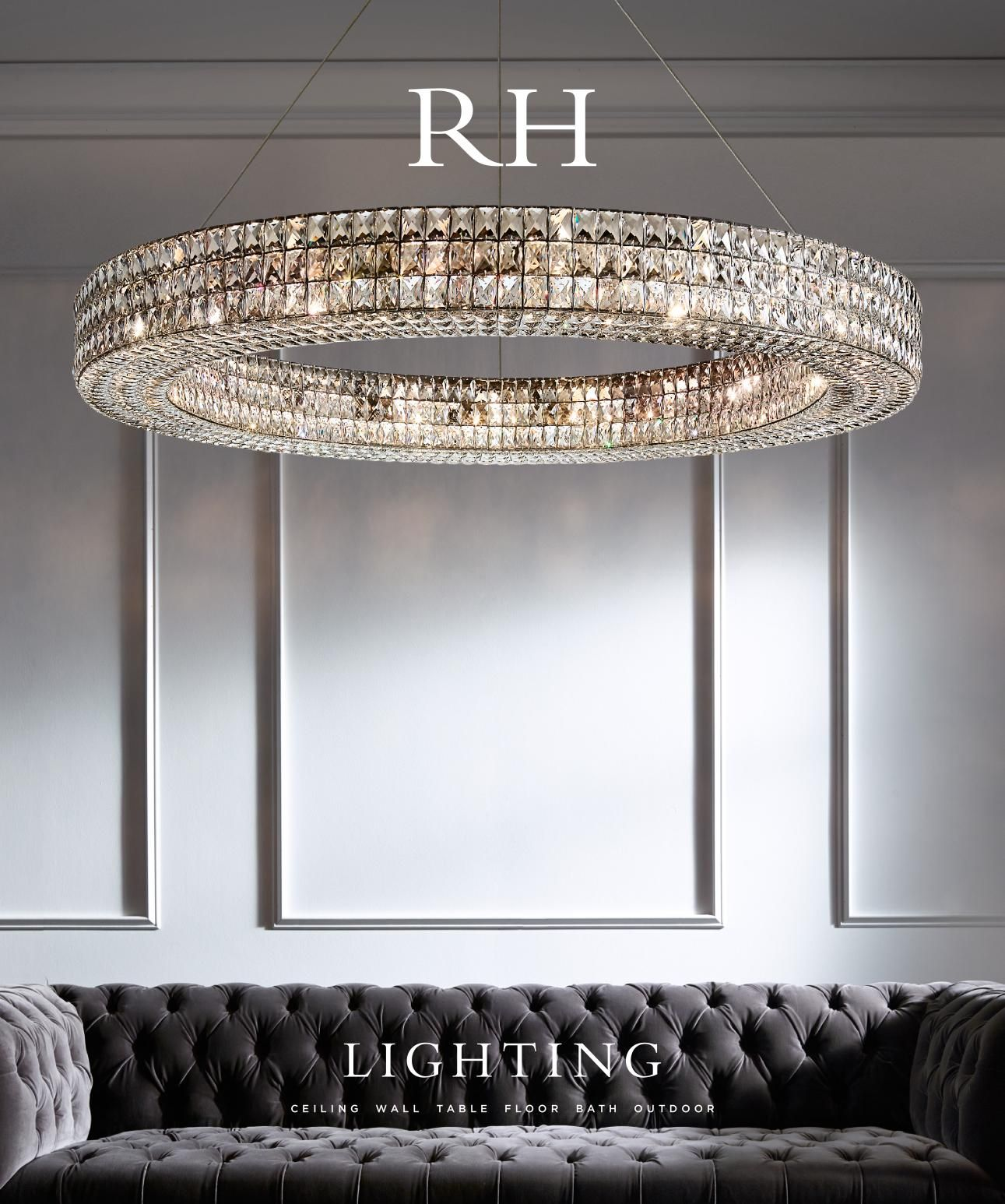 Restoration hardware lighting 吊灯 pinterest beautiful life